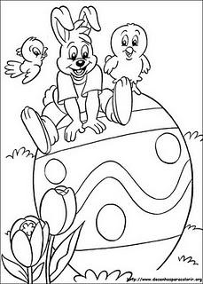 desenho colorir pascoa