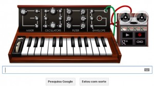 Homenagem do google a Robert-Moog