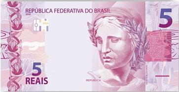 nova nota 5 reais